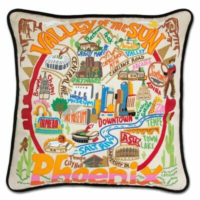 Phoenix Hand-Embroidered Pillow