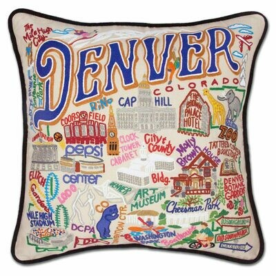 Denver Hand-Embroidered Pillow