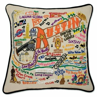 Austin Hand-Embroidered Pillow