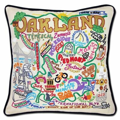 Oakland Hand-Embroidered Pillow