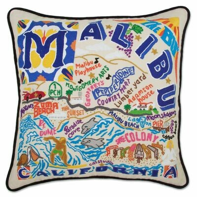 Malibu Hand-Embroidered Pillow