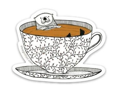 SGF Tea Otter Vinyl Sticker
