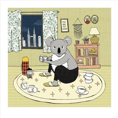 SGF Koala in Quarantine Art Print - 8x8