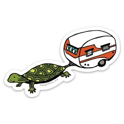 SGF Turtle with Camper in Tow Vinyl Sticker
