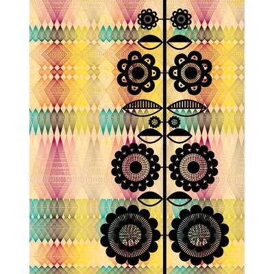 LSG Modern Geometric Floral 11x14