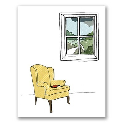 Armchair By The Window Print - 8x10