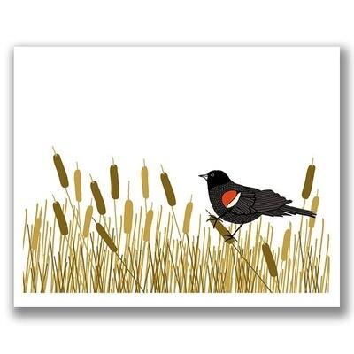 Red-Winged Blackbird Print - 8x10