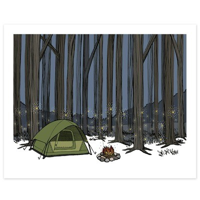 Camping Among the Tall Trees and Fireflies - 8x10