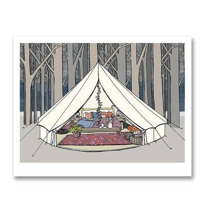 Bell Tent Glamping Print - 8x10