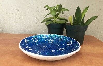 Celestial Holographic Coin Tray/Ring Dish