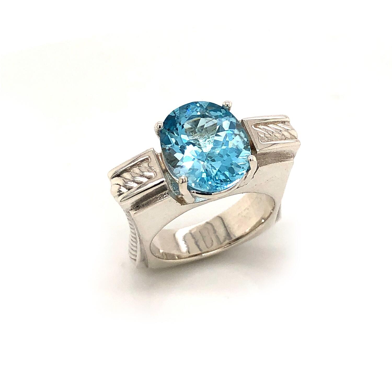 Bound.  Blue Topaz Ring.