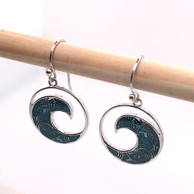 006 Blue Wave Earrings