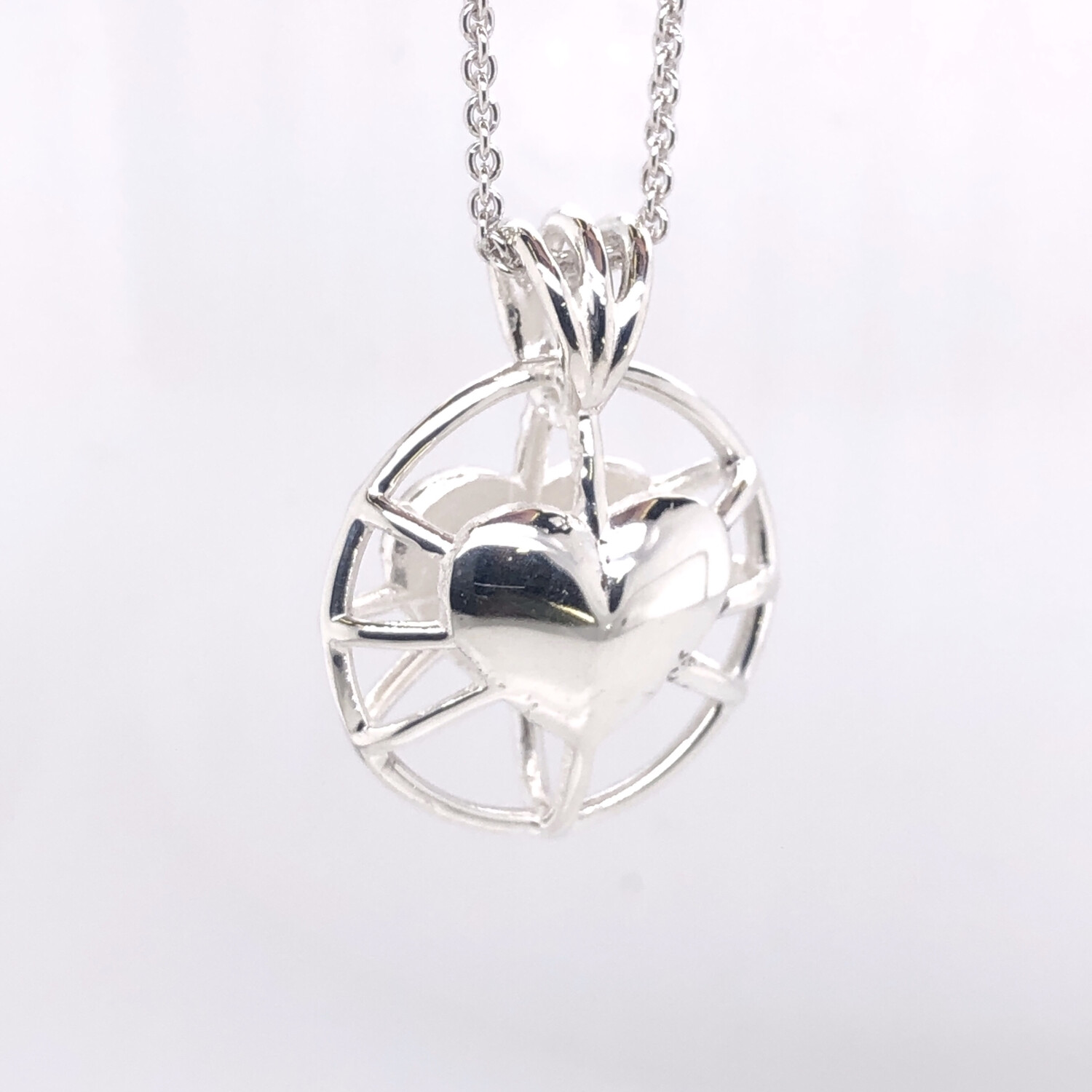 Caged Heart Pendant