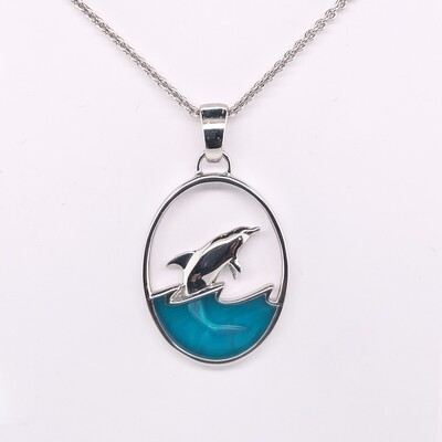 004 Leaping Dolphin Pendant