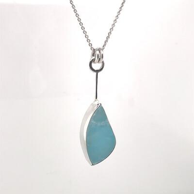 Caribbean Calcite Sterling Silver Pendant 002.