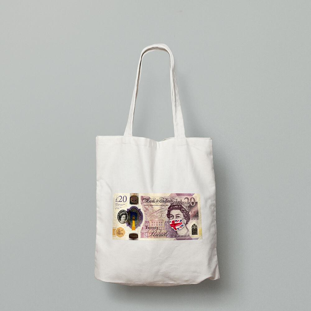 SINGLE £20 NOTE   - TOTE BAG