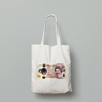 SINGLE £20 NOTE   - TOTE BAG