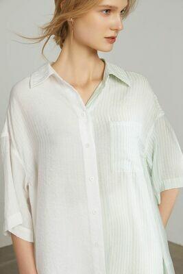 ANNA CREAMY SHIRT DRESS