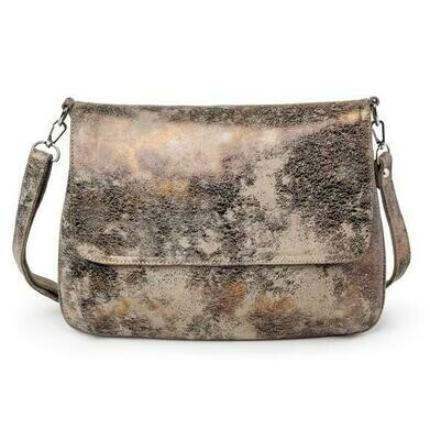 DISTRESSED LEATHER HANDBAG