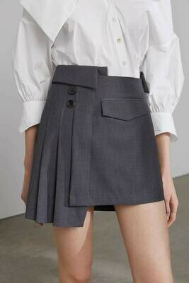 JILTED GREY CONTRAST SKIRT