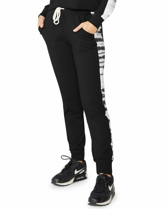 SPORTY PANT WITH TIE DYE PANNEL