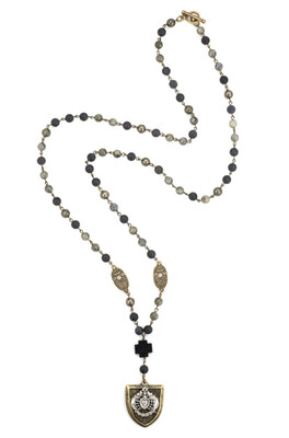 CHEVAL HEART STACK NECKLACE