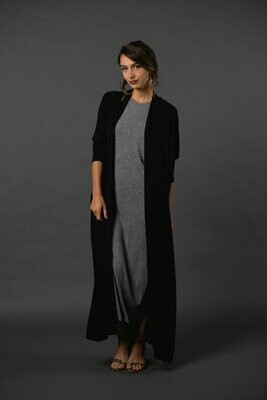 BLACK YOGA DUSTER