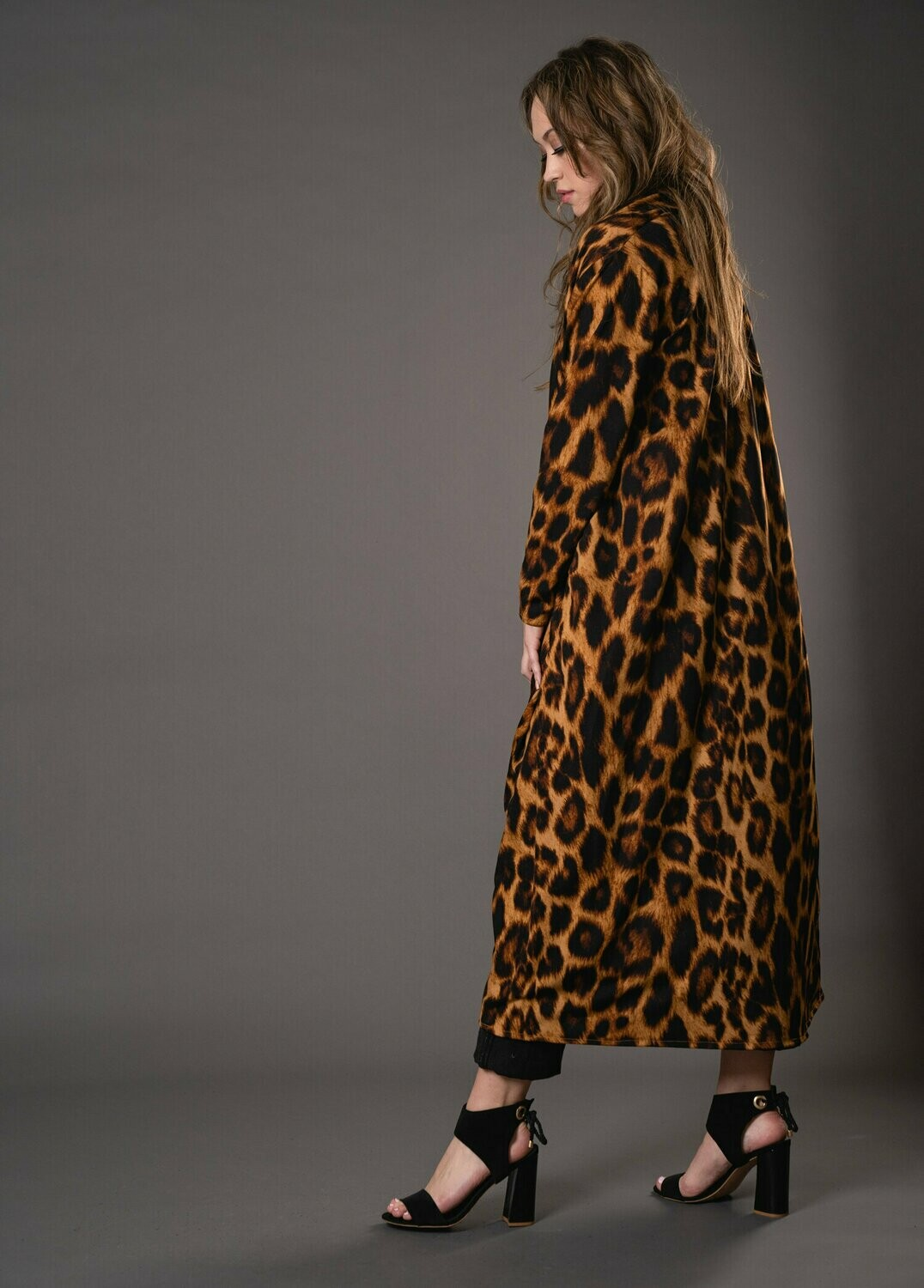 LEOPARD CLASSIC DUSTER WITH POCKETS