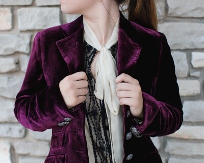 HACKING JACKET VELVET LUX