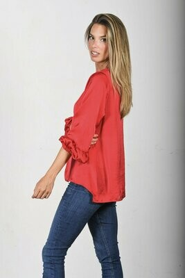 THE CAROLINE RED TOP