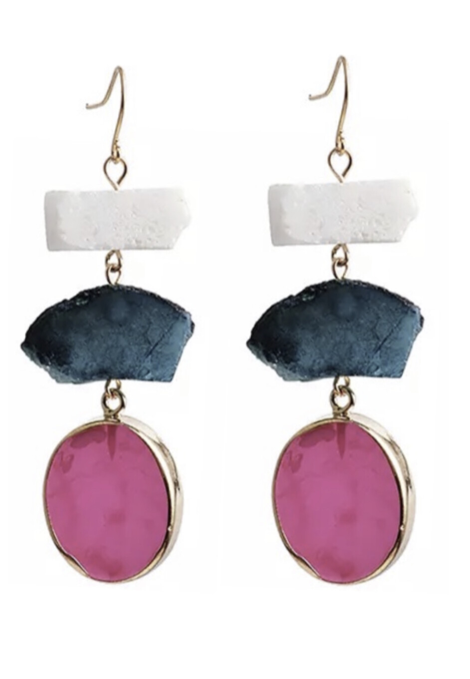 TRIPLE ON THE ROCKS DROPS EARRINGS