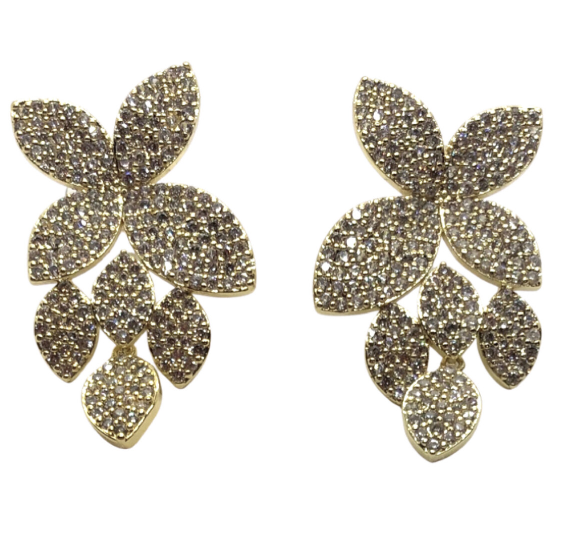 PAVE LILLY DROP EARRINGS