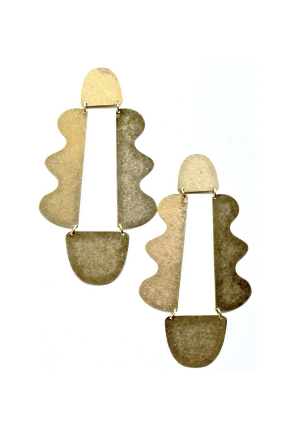 BRASSY KNOLL DROPS EARRINGS