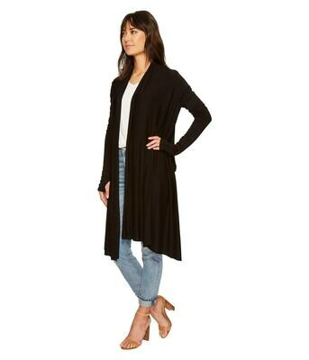 WATERFALL CARDIGAN BLACK