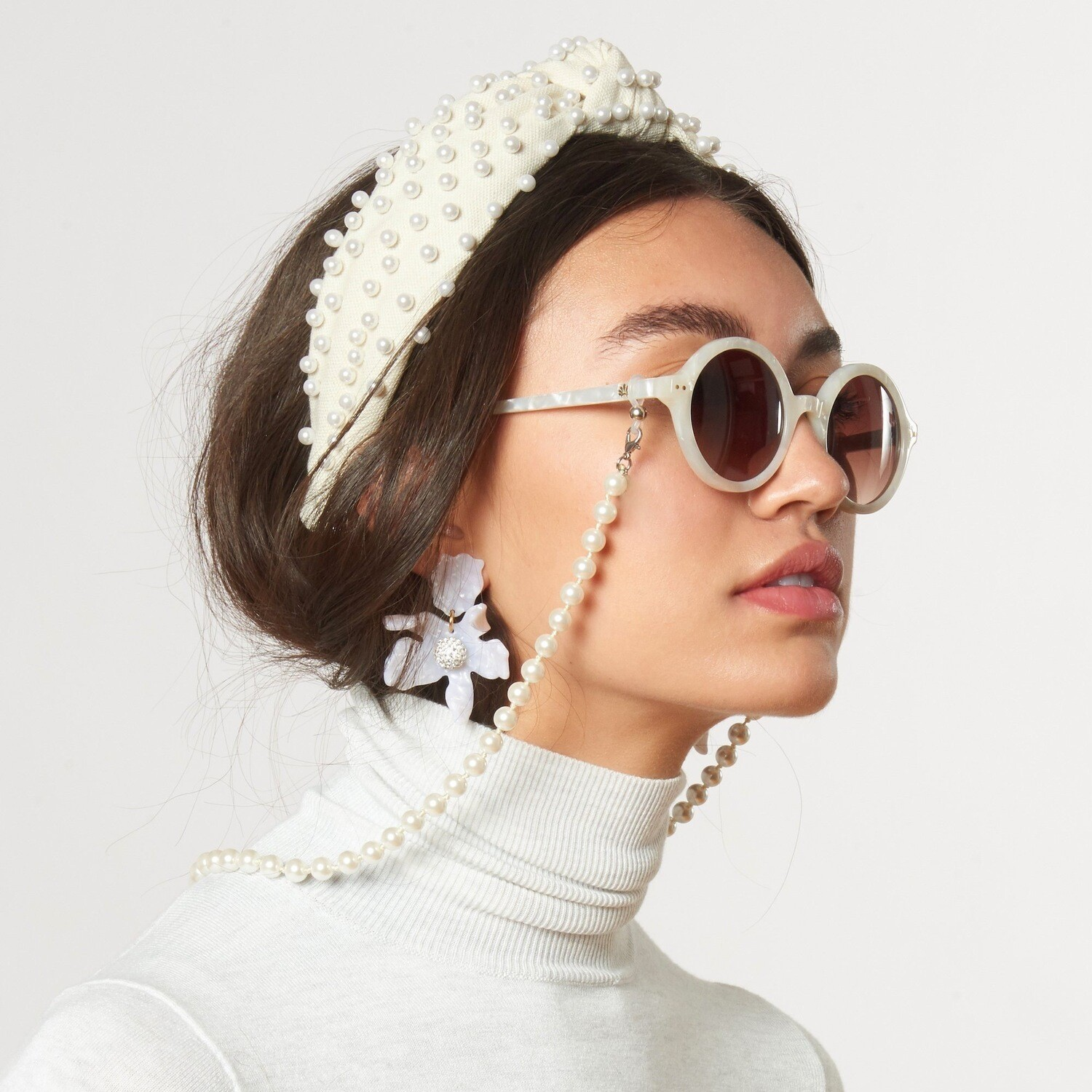 LE - WOVEN PEARL KNOTTED HEADBAND