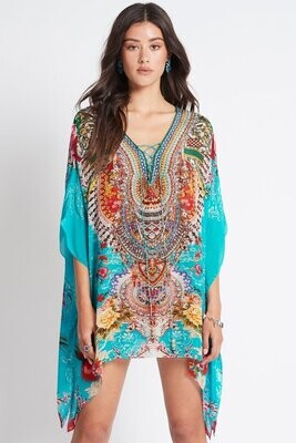 CZ - ONCE IN A BLUE MOON CAFTAN TOP