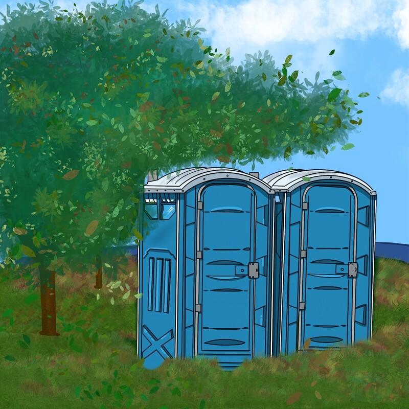 Rent a porta-potty for a month