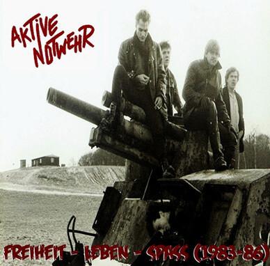 """Knast-Punx-Pogo-Band AKTIVE NOTWEHR, Vinyl  """"Freiheit Leben Spass"""" Re-Release Mini-LP  gelbes Vinyl"""