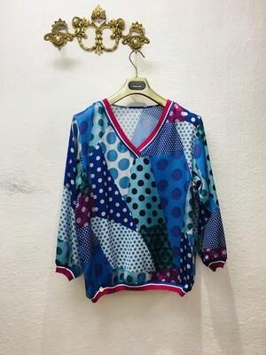Blusa lunares patchwork
