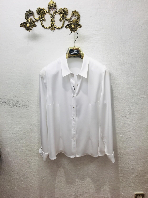 Camisa blanca satinada