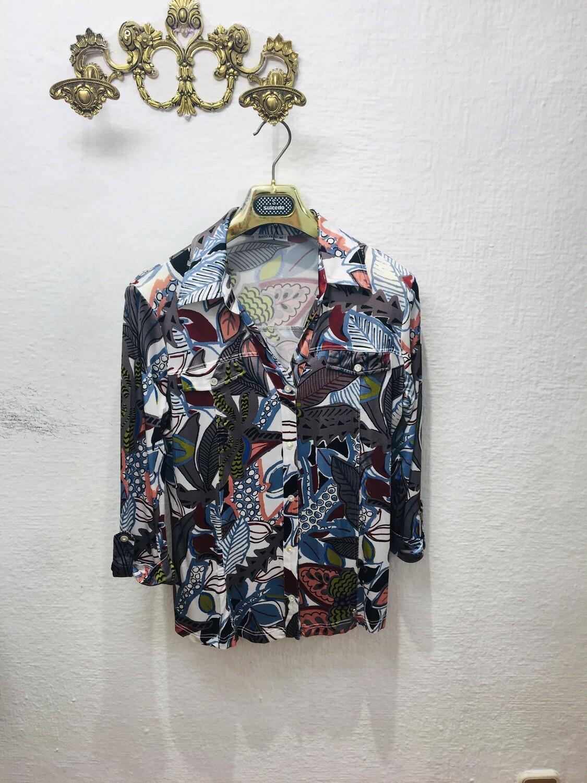 Camisa estampado tropical