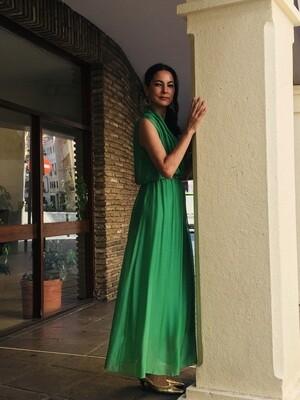 Vestido verde largo