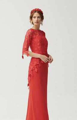 Vestido maxi rojo