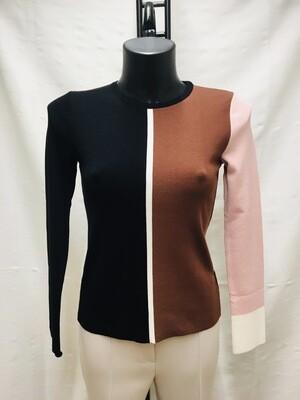 Jersey bicolor marrón