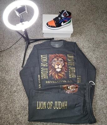 LION OF JUDAH SWEAT SUITS (Grey)