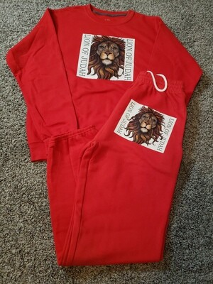 LION OF JUDAH SWEAT SUITS (Red)