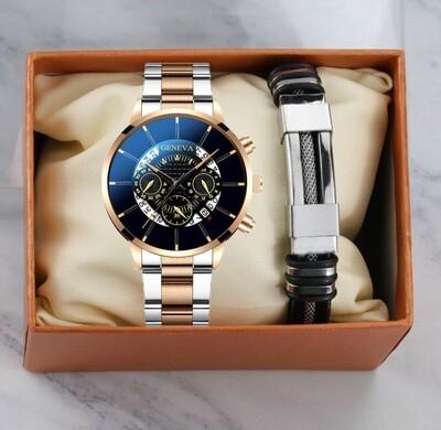Mens Watch and Bracelet set