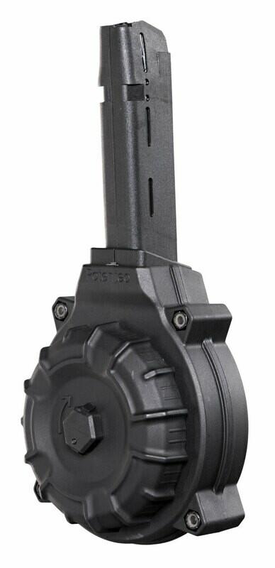 S&W 9mm Luger M&P Shield 50rd Black Drum