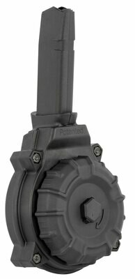 ProMag DRMA11 Glock Compatible 9mm Luger G17, 19 50rd Black Drum