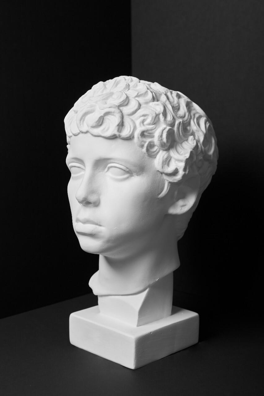 Гипсовая голова (бюст) мальчик Ливиец